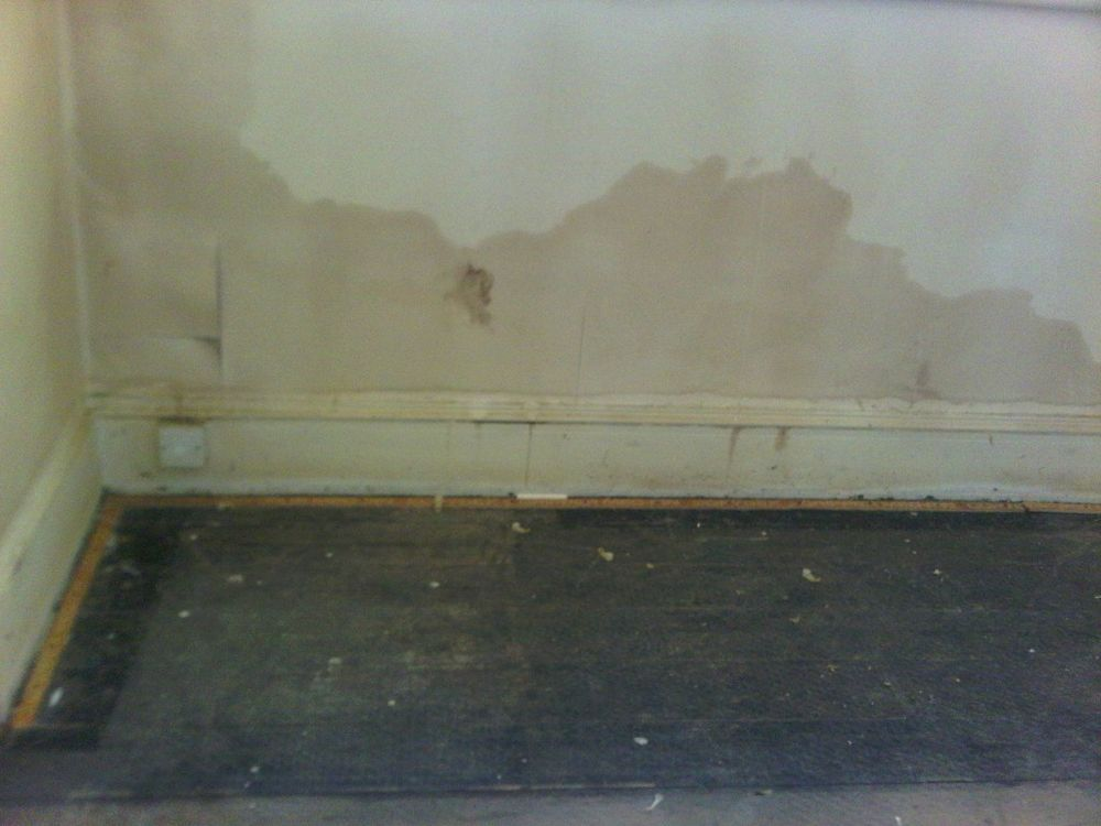 Clear signs of damp
